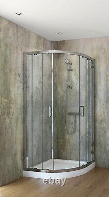 Panneaux De Douche 1000mm Large X 2.4m Grande Salle De Bain Mural Humide Clading Pvc 10mm Épaisseur