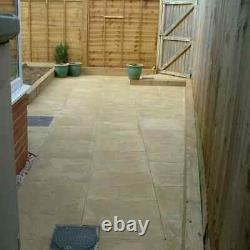 Pavage Slabs Buff & Natural 450mm X 450mm X 32mm Peak Riven Finition