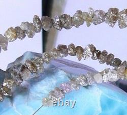 Perles De Pépites De Diamant Druzy Naturelles Rares 34.5ct 15.25 Brin