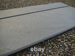 Porcelain Pavage Grey Stone Effect Patio Extérieur Rectifié Vitrified 20mm Belle