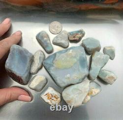 Pot De Lambina Naturel Et Couleur Gris Base Rough Opal 10ozs Grandes Pierres (3489)