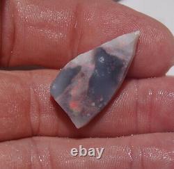 Règles De Parceau Naturel Opal Australienne Black Crystal Grey White Rough Gem 201ct