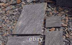 Sagar Black Slate Grey Rustic Natural Indian Sandstone Paving Slabs Garden Patio