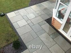 Silver Grey Sandstone Indian Natural Paving Slabs Sawn Patio Stone Floor 15,39m2