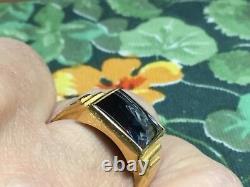 Taille De La Hématite D'ouverture De La Vinture 22 Ct Yellow Ring Ring R Wt 10 Grammes