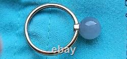 Tiffany & Co 18k Rose Or Port Dur Gris Pierre De Lune 8mm Bague De Perles 6