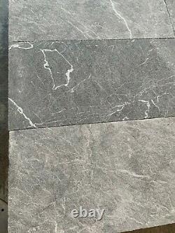 Tuiles De Marbre, Tuile De Marbre Gris Récupéré, Plancher / Mur, Calcaire De Pierre Naturelle