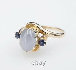 Vintage 14k Yellow Gold Natural Star Sapphire Ring Taille 7.5 Rg2686