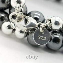 Vintage Tiffany & Co. Argent Sterling & Hématite Multi Perles 21 En Collier